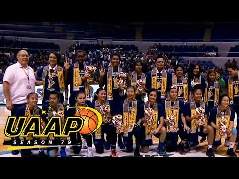 UAAP 79 Women's Basketball Awarding Ceremony - YouTube