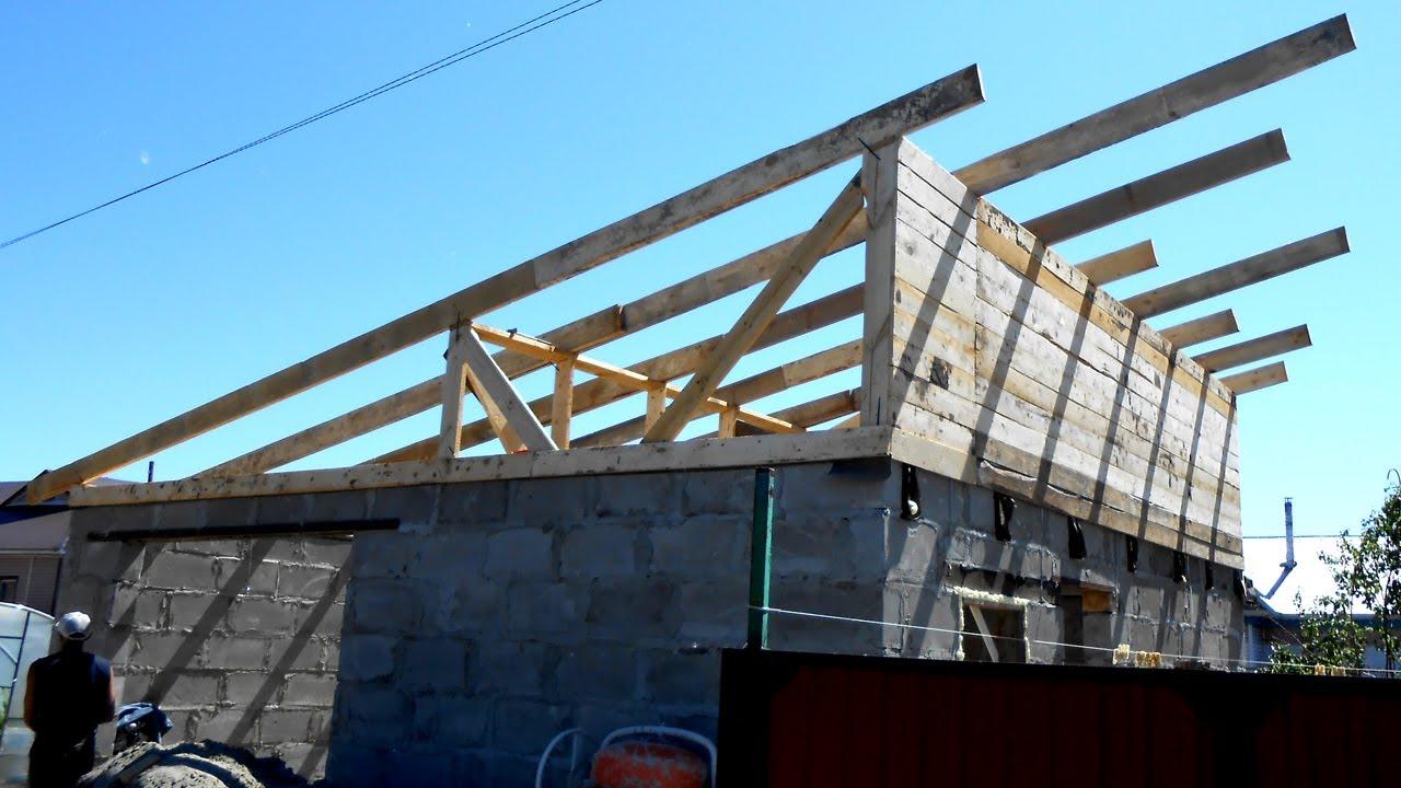 Односкатная крыша своими руками фото фото 536