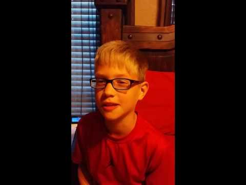 Funny hilarious  kid after taking breathing treatment