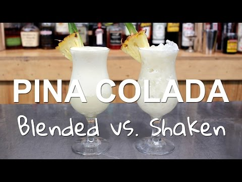 Pina Colada Cocktail Recipes: 2 Ways, Blended vs. Shaken!