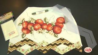 Como fazer um pano de prato com as réguas barrados da Isamara Custódio