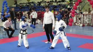 Taekwondo ITF Russian Open 2017 Канашенко Егор (Приморье) vs Нуруллин Тимур (Москва) финал