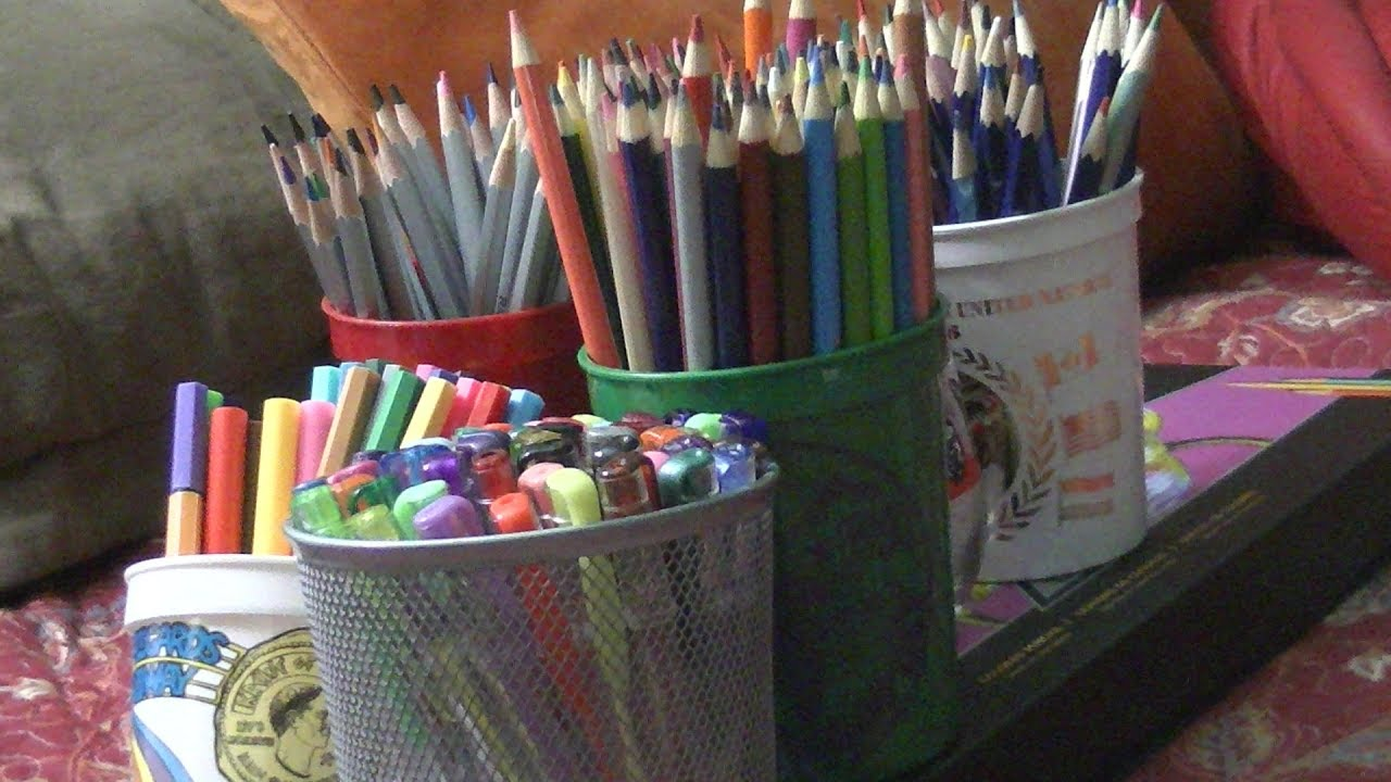 Coloring Supplies! What I Use In My Adult Coloring Books - YouTube