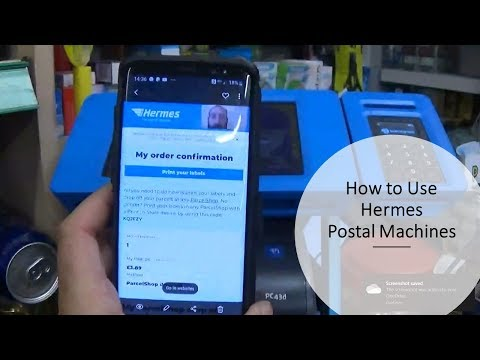 How To Use Hermes Different Postal Services Click And Drop Print