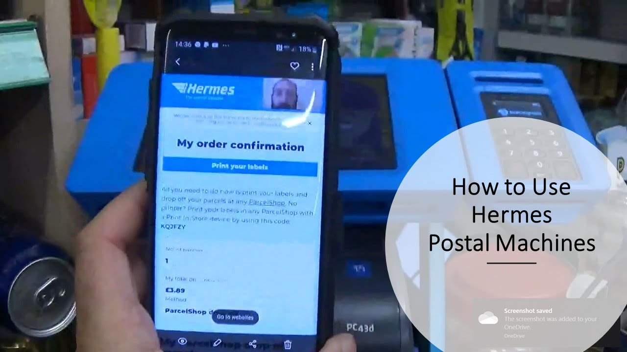 How To Use Hermes Different Postal Services Click And Drop Print Youtube