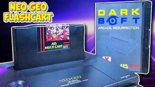 Darksoft Neo Geo Multi AES Flash Cartridge First Impressions! Play Every Neo Geo Game!