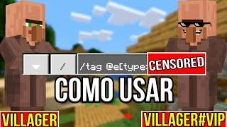 COMO USAR O COMANDO /TAG NO MINECRAFT PE 1.9.0.2 - How To use /tag Command in MCPE 1.9.0.2
