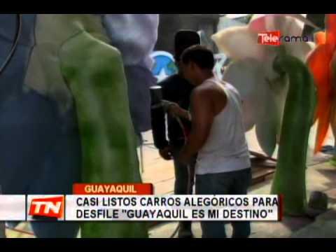 Casi listos carros alegóricos para desfile: Guayaquil es mi destino