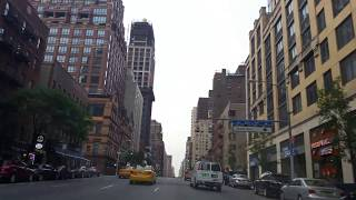 Driving on 1st ave in Manhattan,New York City