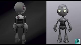 modeling a robot using 3ds max (timelapse)