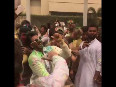3a940326d6fb9 Pharrell Williams Celebrates First Holi in India With Ranveer Singh ...