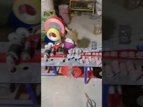 big red firecrackers knitting machine