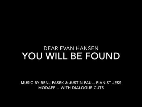 You Will Be Found from Dear Evan Hansen - Piano Accompaniment (with lyrics)