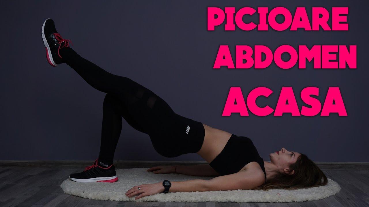 Exercitii abdomen si picioare ferme in circuit