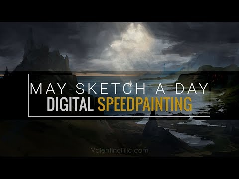 Digital Painting | Landscape Concept Art | Speed Painting Time Lapse [May-Sketch-A-Day 01]
