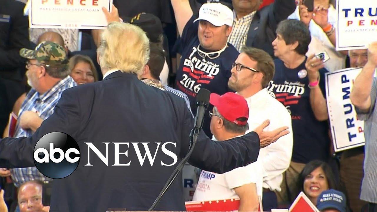 Trump Protesters Interrupt Donald Trump's Speech
