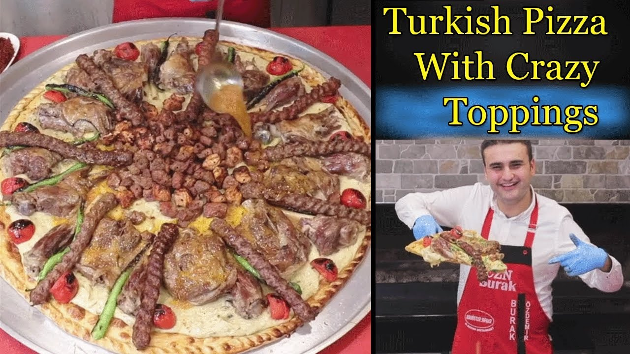 CZN Burak Pizza Video   Turkish bbq Beef Tikka Pizza   Turkish Food Heaven