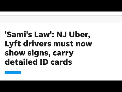 Uber/Lyft Drivers In NJ Are Now Required To Display