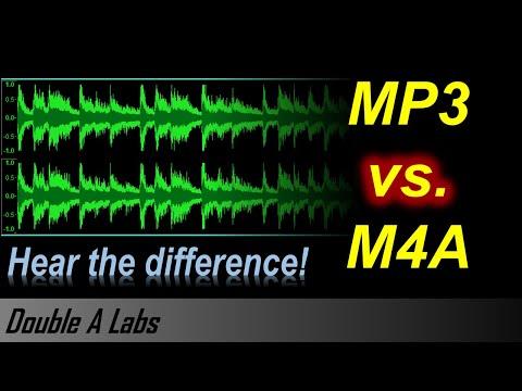 M4A vs MP3 Audio Quality Comparison