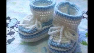 Симпатичная обувка для младенцев  Пинетки спицами(Каждой маме хочется, чтобы ее малышу было тепло и он выглядел при этом нарядно. Предлагаем посмотреть пинет..., 2015-03-26T22:23:50.000Z)