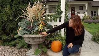 Fall Containers with Cornstalks!  // Garden Answer