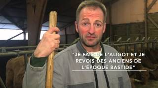 Bernard Prunières, ses vaches et ses veaux à Nasbinals