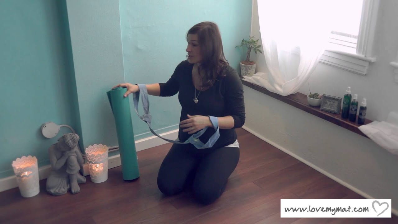 Yoga Mat Strap by Love My Mat - YouTube