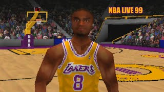 NBA Live 99 PS1 - Rockets vs Lakers with Commentary