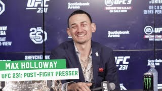 Max Holloway | UFC 231 Post-Fight Press Conference