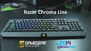 Razer Chroma Line at Gamescom 2014 - Gamegear