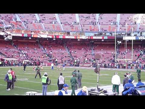 David Akers Pregame Kicking 49ers vs. Packers