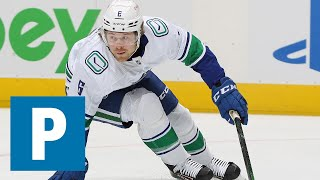 Brock Boeser reflects on the season after 6-2 loss to Calgary Flames   The Province