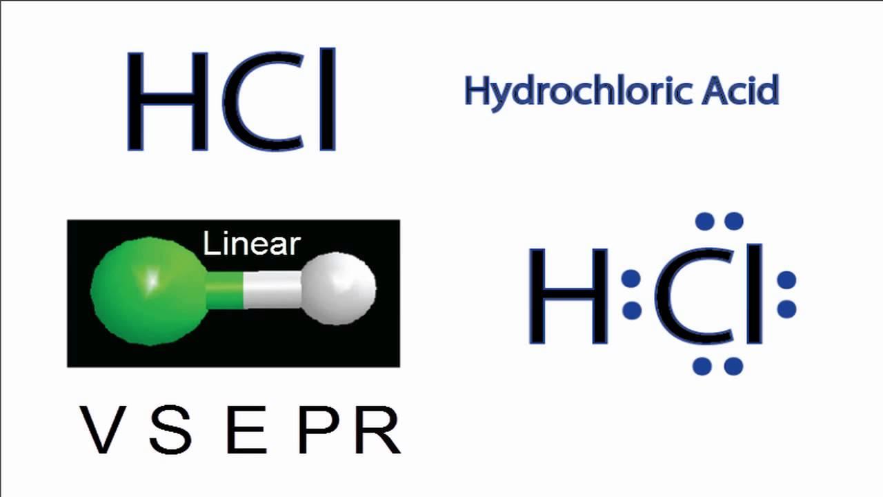 Hcl Molecular Geometry    Shape And Bond Angles