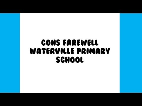 Cons Farewell Waterville Primary School