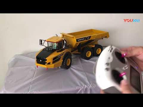 Professional, 1/14 Scale Full Metal Hydraulic VOLVO A40G RC Dump Truck.