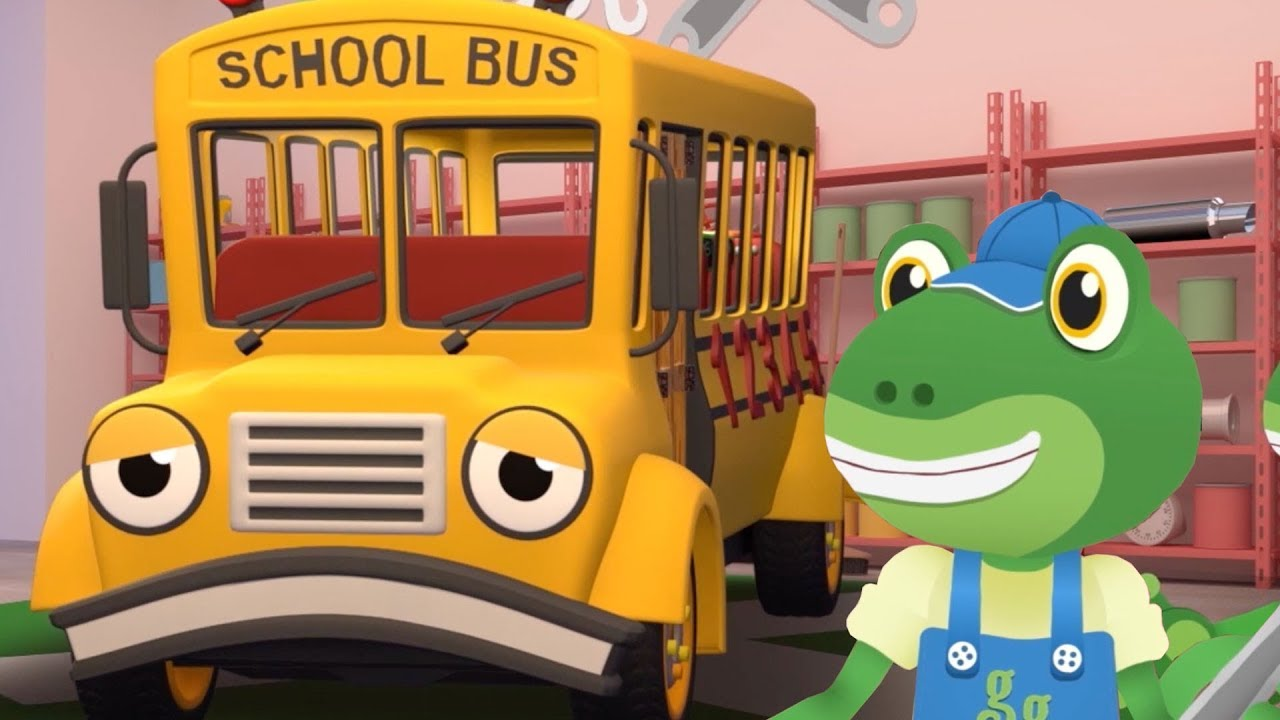 The School Bus Visits Gecko Gecko S Garage Buses For Kids