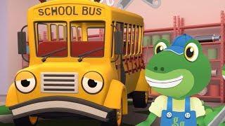 The School Bus Visits Gecko - Gecko's Garage | Buses For Kids | Educational Videos | Cartoon