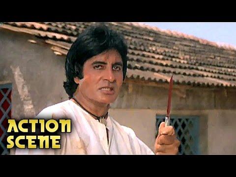 Amitabh Bachchan KILLS His Own Sister's Husband   Action Scene   Aaj Ka Arjun   Jaya Prada   HD