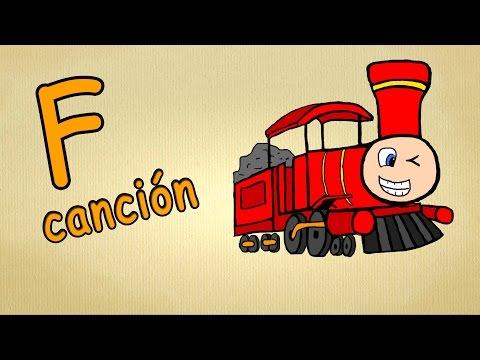 alfabeto en español para niños de preescolar - La letra F -Lied musica para estudiar español