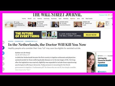 [Holland News] Sgp leader 'sounds the alarm' about dutch euthanasia in us newspaper