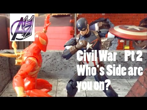 Captain America Civil War [Stop Motion Film] Pt2 Spiderman vs Captain America