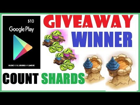 Count Shards Google Play Card WINNER! Castle Clash