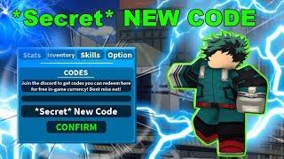 *Secret* New Code ! | Boku No Roblox: Remastered | Roblox MHA Game