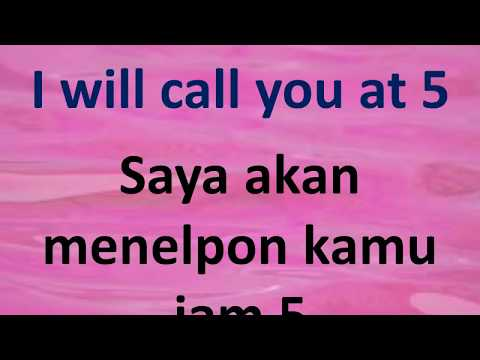 Learn English and Indonesian Phrases / Belajar Ungkapan Baha