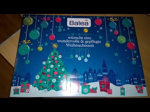 2015 Dm Balea Kosmeticky Kalendar Beauty Advent Calendar Adventskalender Youtube
