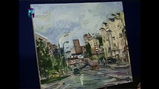 Уроки рисования (№ 102) масляными красками . Рисуем летний пейзаж московских улиц