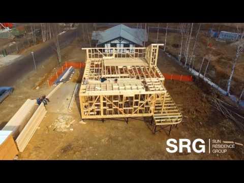 SRG | SUN RESIDENCE GROUP | Возведение силового каркаса КП Корела Парк