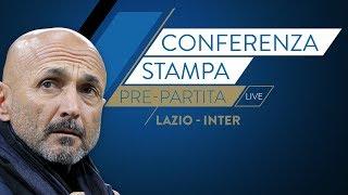Lazio-inter    luciano spalletti in conferenza stampa live