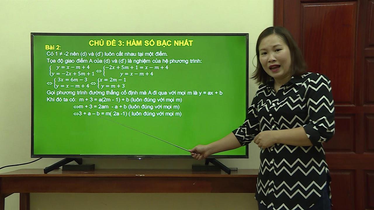 Toán 9 – Hàm số bậc nhất – Phần 4 – Nguyễn Thị Hương Nga – THCS Bình Minh – TP Hải Dương