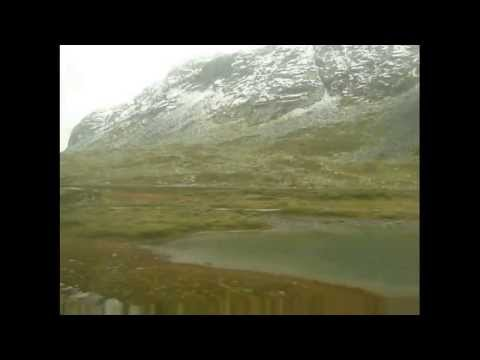 Train ride from Oslo to Bergen Norway